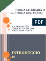 8. Historia Literaria o Historia Del Texto Los Signos en Juan