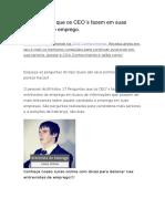 Almir Neves - 17 Perguntas que os CEO´s fazem em suas entrevistas de emprego