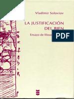 Soloviov Vladimir - La Justificacion Del Bien Ensayo de Filosofia Moral