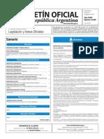 Boletín Oficial de la República Argentina, Número 33.450. 30 de agosto de 2016