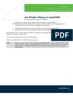 MODELLING FRP AND PLASTIC PIPING IN AUTOPIPE