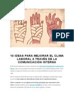 10 Ideas Para Mejorar El Clima Laboral a Través de La Comunicación Interna