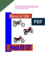 Honda Xr 125 Manual de Taller