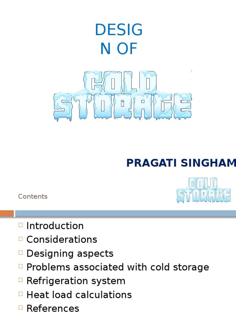 Cold storage | Refrigeration | Refrigerator