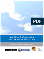 Inteligencia Competitiva. DETECTIVES PRIVADOS