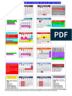 Calendari de 1 i 2 Curs de Catequesi Any 2014-2015 Pares