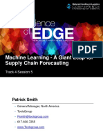 T4S5 Machine Learning - A Giant Leap for Supply Chain Forecasting