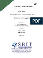 PTPS Panipat Summer Training Project Report