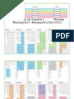 Dosificacion de Español 1 2016