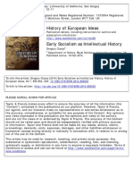 Gregory Claeys - Early Socialism as Intellectual History