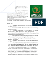 Improvised Explosive Devices Among Deadliest Threats to Security In Somalia - AMISOM