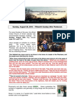 Pastor Bill Kren's Newsletter - August 28, 2016