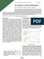 Urban Growth Analysis in Akure Metropolis