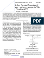 Spectroscopic and Electrical Properties of Strontium Doped Lanthanum Manganite Thin Films for Sofc