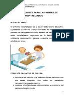 Recomendaciones a Las Visitas de Pacientes Hospitalizados