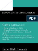 literary style in gothic lit