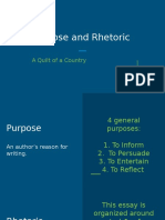 purpose and rhetoric in a quilt of a country