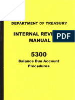 IRM 5300 Balance Due Account Procedures, Form #09.062