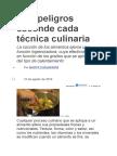 Qué Peligros Esconde Cada Técnica Culinaria