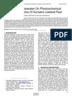 Effect of Seawater on Physicochemical Characteristics of Sumatra Lowland Peat