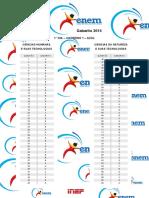 Inep 2015 Enem Exame Nacional Do Ensino Medio Primeiro e Segundo Dia Gabarito
