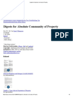 Digests for Absolute Community of Property