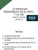 La Uni y Las Energias Renovables