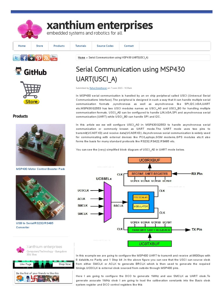 Serial Communication Between MSP430 Launchpad and PC _ Xanthium