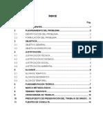 Modelo de Elaboración de un perfil de trabajo de grado