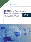 MANUAL DE Procedimentos - Processos Administrativos GTAA/SRE/ANAC.pdf