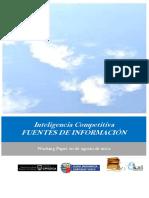 Inteligencia Competitiva. FUENTES DE INFORMACIÓN