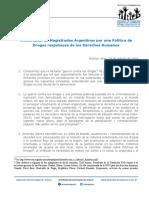 Declaración de magistrados argentinos por una política de drogas respetuosa de los Derechos Humanos