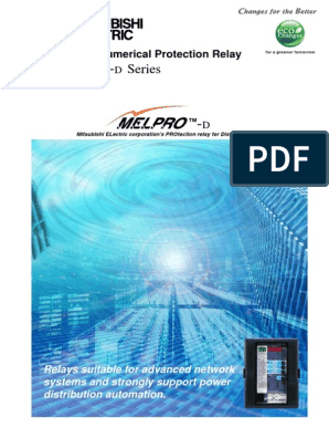 MITSUBISHI Numerical Protection Relay MELPRO-D pdf | Relay