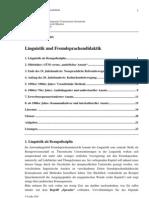 16864837 Linguistik Und Fremdsprachendidaktik