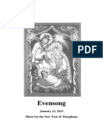 Evensong for Theophany