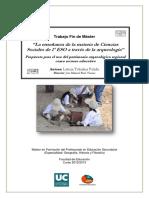 La Enseñanza de La Materia de Ciencias Sociales de 1º ESO a Través de La Arqueología