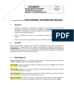 PGIRS - PMIRS Plan de Gestion Integral de Residuos Solidos