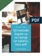 eBook - 10 Metode Sa Castigi Un Salariu Fara Sefi