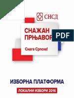 Izborna Platforma OO SNSD Prnjavor Lokalni Izbori 2016