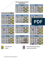 2016 Accounting Calendar