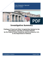 Investigative Summary