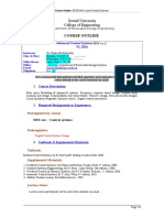Advanced Control Systems Course Outline Sp17