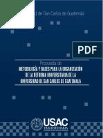 Metodologia de Reforma Universitaria