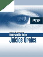 Informe de Resultados de la Observación de Juicios Orales