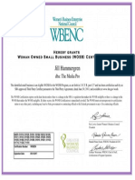 2016 the Media Pro WOSB Certificate