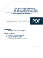Relacion Entre Las Fallas Mecanicas de Un Vehiculo y Los Accidentes Automovilisticos de Lima Metropolitana
