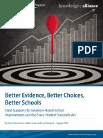 Better Evidence, Better Choices, Better Schools
