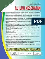Jurnal Ilmu Kesehatan Vol 3 No 1