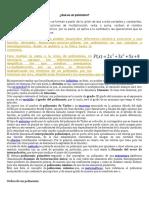 Polinomios y Ejercicios
