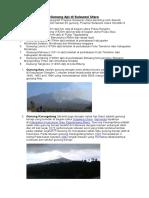 Gunung API Di Sulawesi Utara
